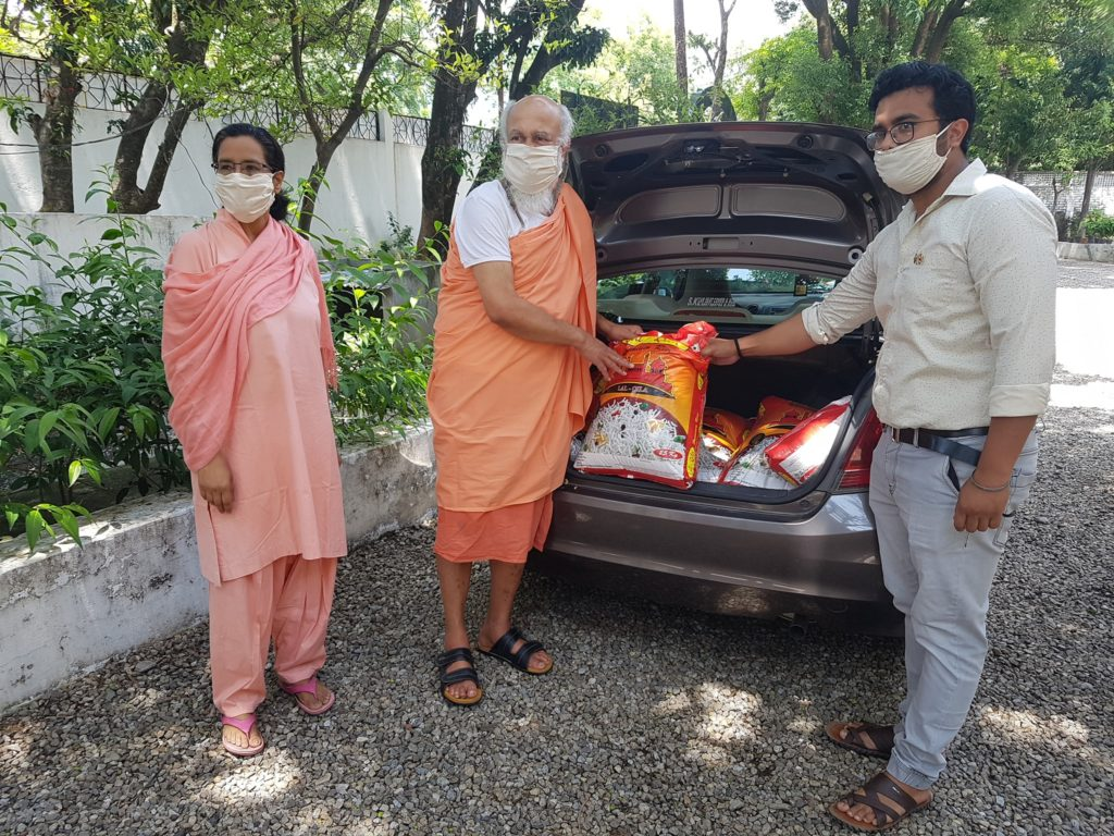 Distribution of rations to the needy at Dehradun Ashram photo2