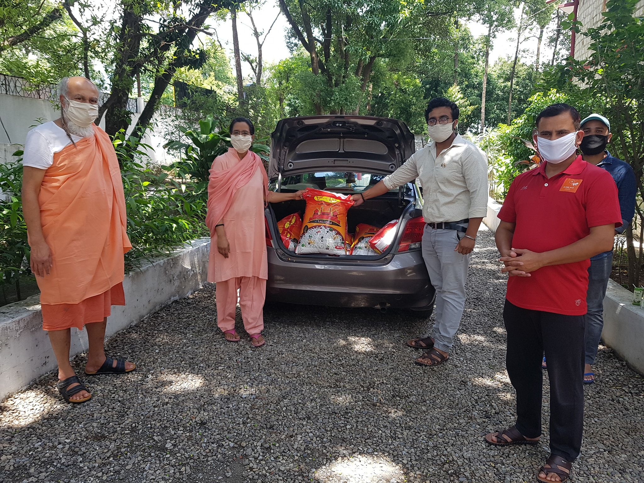 Distribution of rations to the needy at Dehradun Ashram photo1